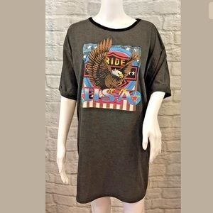 Misguided ride USA eagle t shirt dress size 4